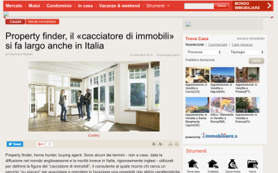 04-11-2014 Property Finder: Gianluca Santacatterina per Il Sole24Ore