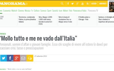 09-2013 Gianluca Santacatterina intervistato sul magazine Panorama
