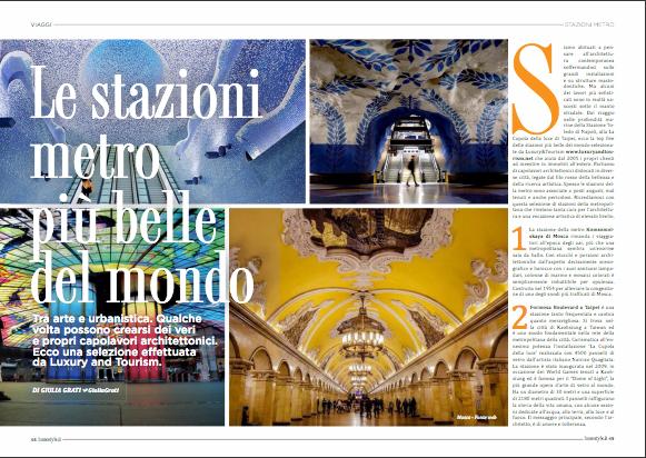 16 gennaio 2017: LuxuryandTourism sul numero 44 di Lusso Style