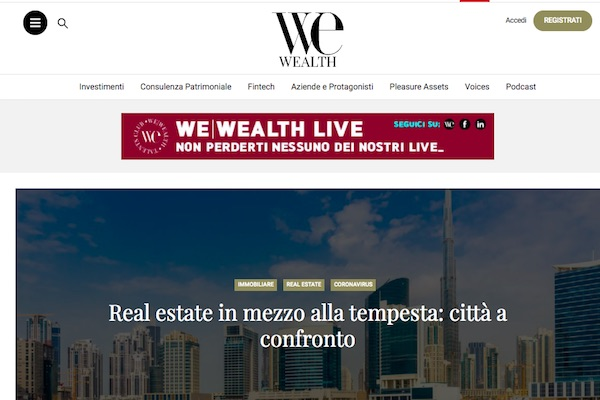 Aprile 2020 – Intervista per We Wealth